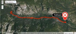 Bear Creek Trail Route